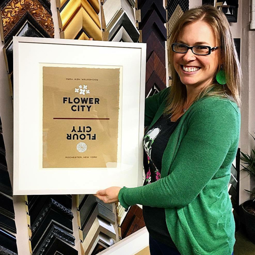 Custom framer Allison Nichols of Creativ Framing and Design in Rochester, NY